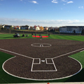 Photo of new softball field at CSB