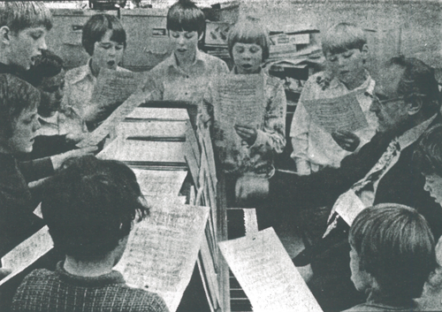 Bruce Larsen at Holy Childhood parish - circa 1976