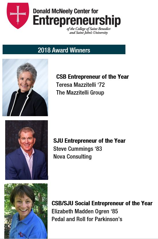2018 Entrepreneur of the Year Winners