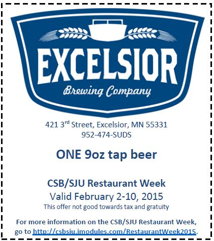 Excelsior Brewing Company Coupon