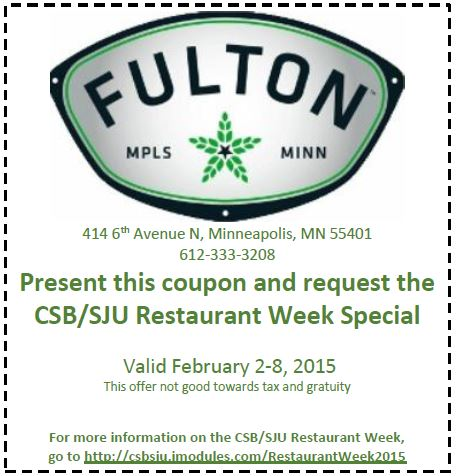 Fulton Brewery Coupon