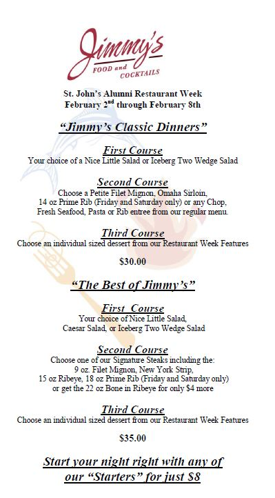 Jimmy's Food and Cocktail's Coupon