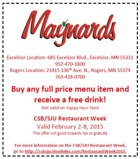 Maynard's Coupon