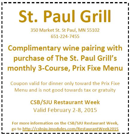 St. Paul Grill Coupon