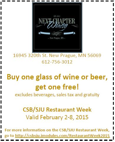 The Next Chapter Winery Coupon