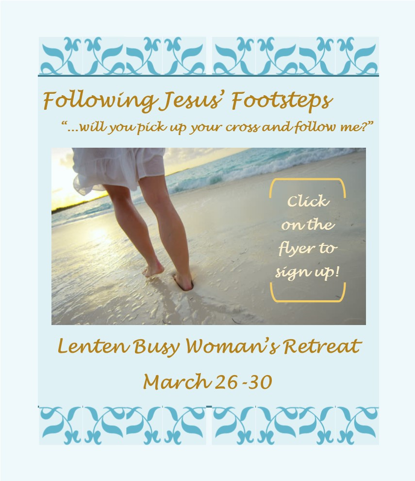 Lenten Busy Women's Retreat Sign Up Flyer