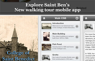 Explore Saint Ben's New walking tour mobile app
