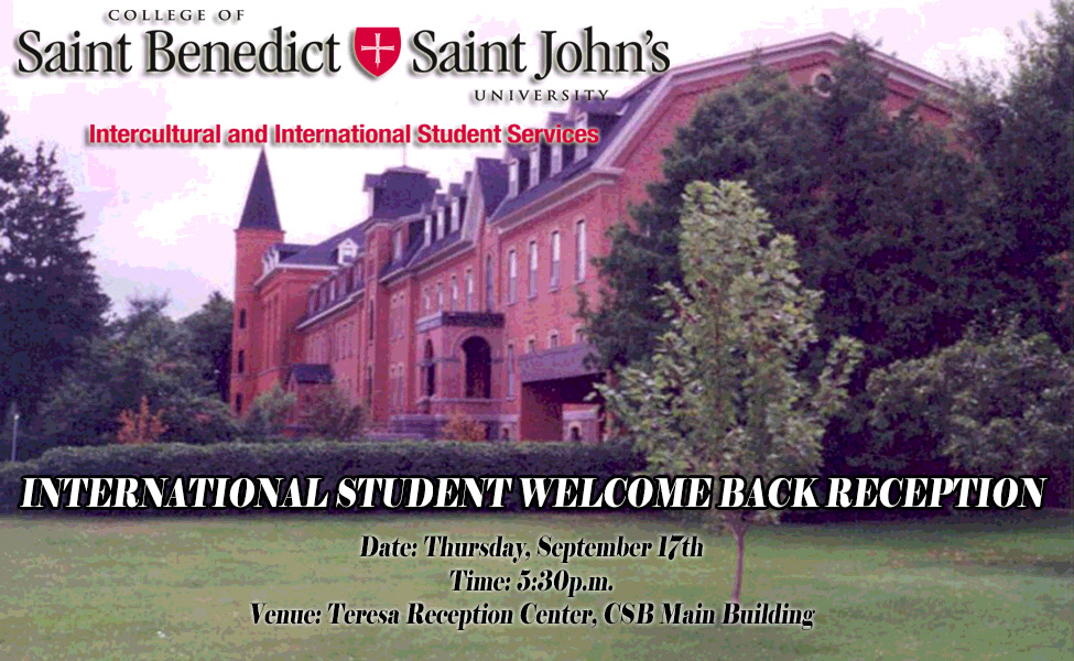 International Student Welcome Back Reception