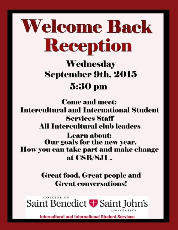 Intercultural Club Welcome Back