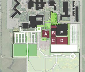 Site Plan for Academic Building and Haehn Campus Center Renovation and Expansion
