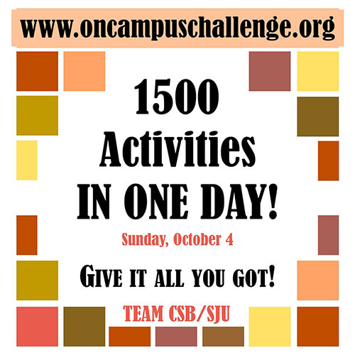 1500 activities in a day oncampuschallenge.org