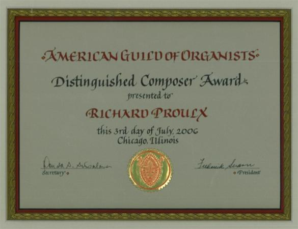Distinguished Composer award