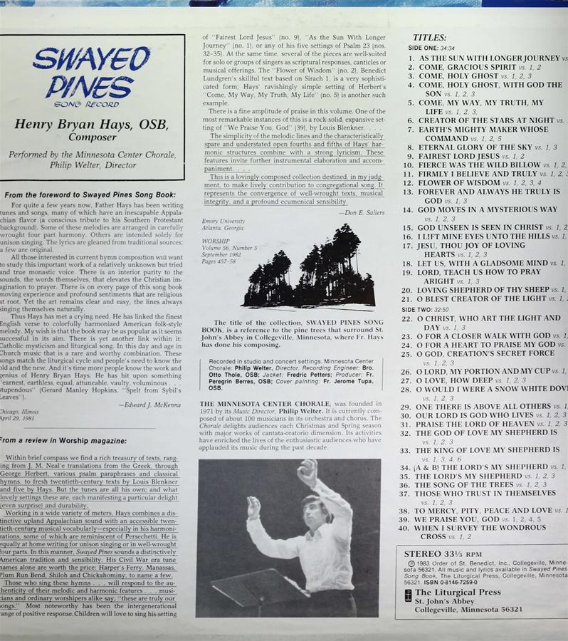 Swayed Pines Record Cover page 2