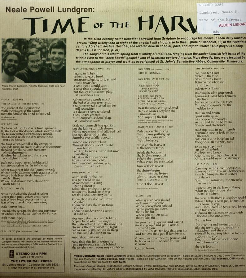 Time of the Harvest Record page 2