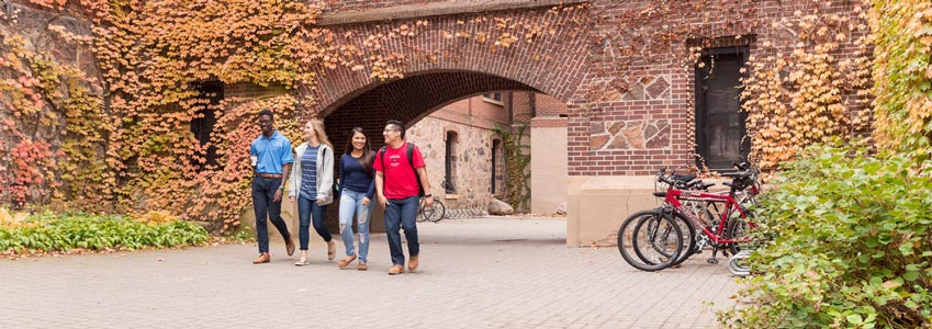 students on sju campus