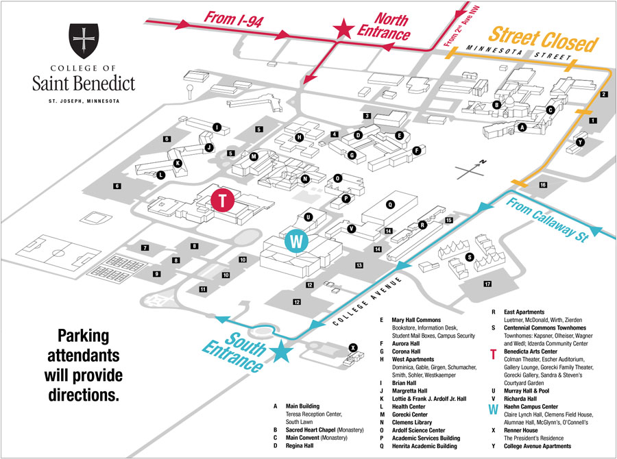 Directions to campus – CSB/SJU