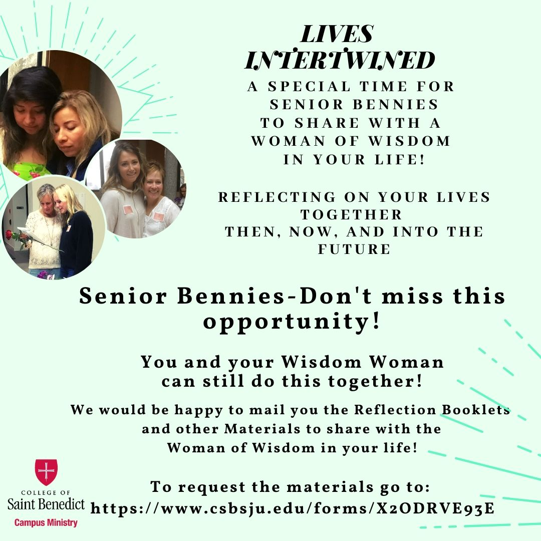 Senior Bennies can still sign up to receive materials for the Lives Intertwined retreat!
