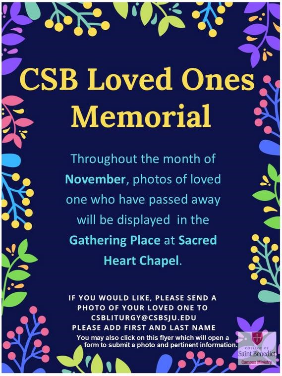 Send in photos of your loved ones to add them to the November Memorial