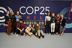 Students at COP 25 in Spain in 2019