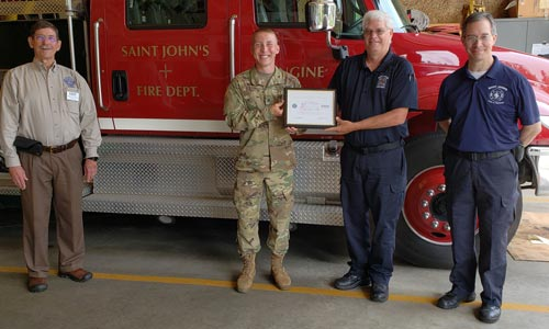 Fire Cheif receives award