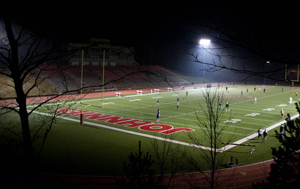 Photo of Clemens Football Field at night