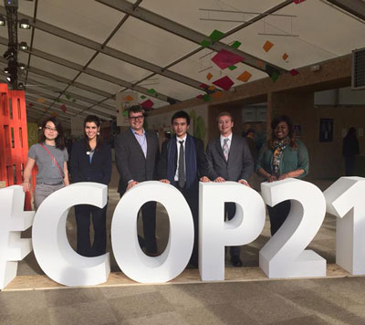 Photo of students at the Climate Summit