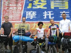 Johnnie and Bennie ambassadors of goodwill, completed their 13-month, 10,000-mile bicycle tour from Beijing to Minneapolis