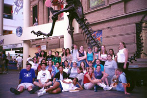 Upward Bound participants visiting a Science Museum